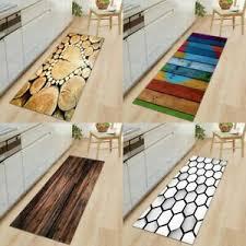 modern holz brief rutschfest küchenläufer waschbar teppich
