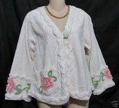 pretty bed jacket in plush chenille sleepwear i love pinterest