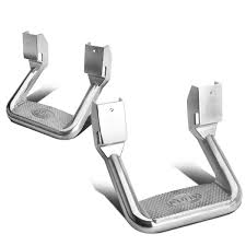 100 Side Step For Trucks S Vehicle Adjustable Aluminum Silver