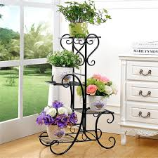 Patio Plant Stands Wheels by Wrought Iron Plant Stand Ebay