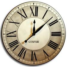 our oxford linen clock is completely hand painted comes in sizes