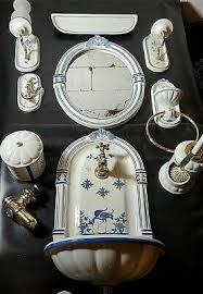 jugendstil waschbecken spiegel badezimmer garintur
