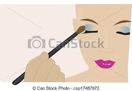 Makeup Artist Applying Makeup csp