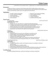 What Employers And Clients Are Looking For In A Landscaping Resume Will Help You Building Your Own Click On Any Of The Examples Below