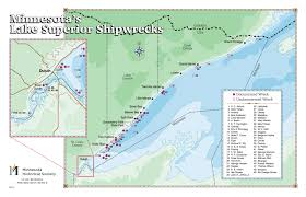 Where Did The Edmund Fitzgerald Sank Map by Shipwrecks Split Rock Lighthouse Mnhs