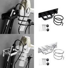 aluminium fönhalter fön halterung haartrocknerhalter badezimmer föhnhalterung