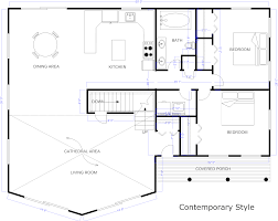 Example Created With Smartdraw Blueprint Software Draw House Plan How Floor Plans Build Your Own Make
