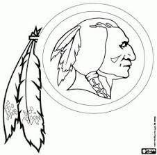 Free Washington Redskins Logo American Football Franchise In NFC East Division Landover Maryland And Ashburn Virginia Coloring Printable Page