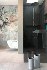 modernes designbad in betonoptik badezimmer tapete