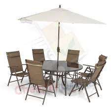 Ebay Patio Furniture Uk by 6 Person 8 Piece Deluxe Tweed Garden Furniture Set Table 6 Chairs