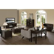 Sauder Shoal Creek Desk Jamocha Wood by Simpli Home Connaught Dark Chestnut Chest 3axccon 08 The Home Depot