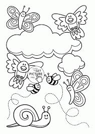 Baby Animal And Spring Coloring Page For Kids Seasons Pages Printables Educations