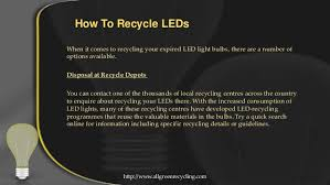 what you need to about recycling leds