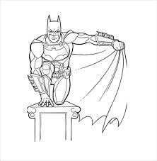 Batman Sitting Coloring Page PDF Free Download