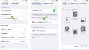 How to customize the Assistive Touch menu in iOS 9