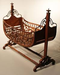 Blankets & Swaddlings Antique Baby Crib With Wheels As Well As
