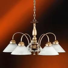 pendelleuchte rund altmessing alabasterglas weiß 5 flammig für küche wohnzimmer esszimmer
