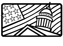 And Usa Flag Coloring Pages White House