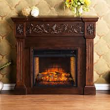 Decor Flame Infrared Electric Stove by Shop Boston Loft Furnishings 44 5 In W Espresso Mdf Infrared