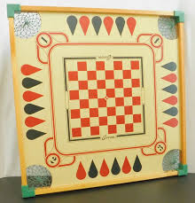 Vintage Carrom Board Game Double Sided Merdel Man Cave Wall Decor