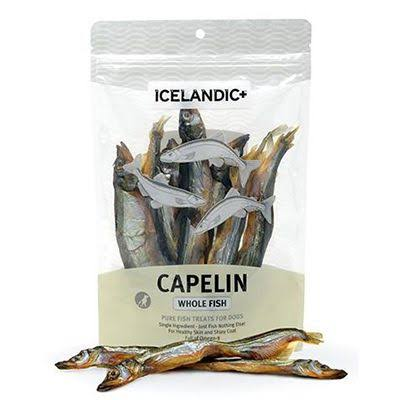 Icelandic+ Capelin Whole Fish Dog Treats 2.5 oz Bag