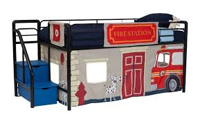100 Fire Truck Loft Bed Department Curtain Set DHP Furniture