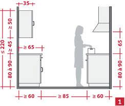 dimension meuble cuisine aménager l espace d une cuisine