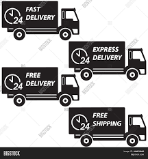 Delivery Trucks Set. Vector Icon Vector & Photo | Bigstock
