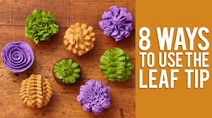 8 ways to decorate cupcakes using the leaf tip decorated