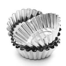 moule cuisine 10pcs moule à tartelette aluminium caissettes tarte gâteau