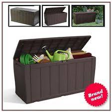 Plastic Garden Storage Bench Seat by Garden Storage Bench Ebay