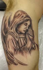 Angel And Cross Tattoo