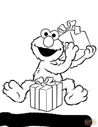 Elmo Opening Birthday Presents