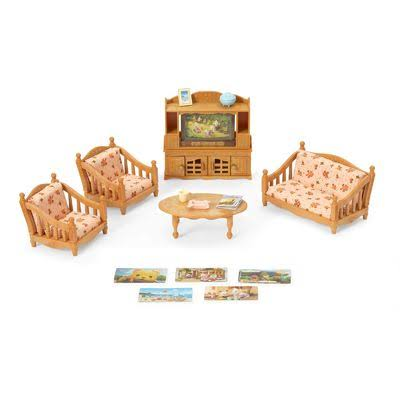 Calico Critters Comfy Living Room Set Action Figure