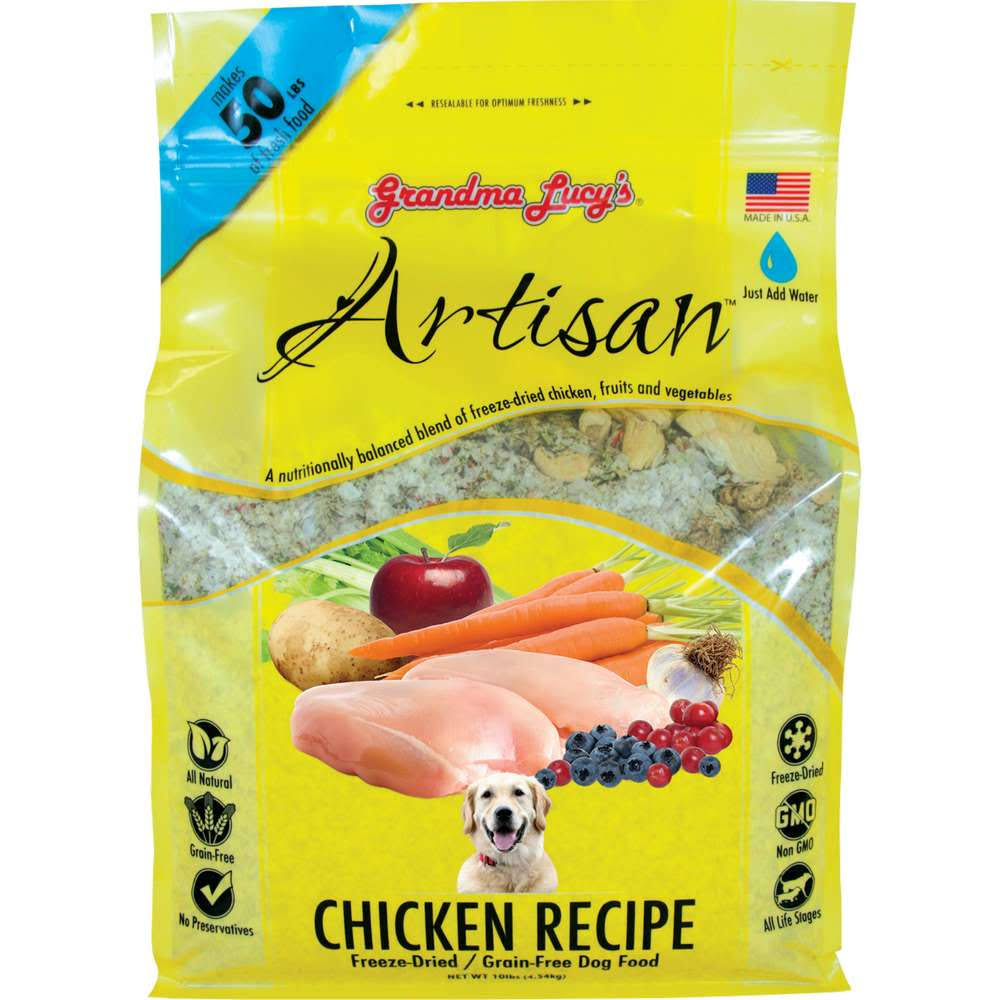Grandma Lucy's Artisan Freeze-Dried Grain-Free Pet Food - Chicken, 10lbs