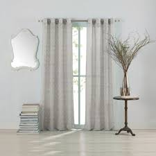 White Sheer Curtains Bed Bath And Beyond by Buy Grey Sheer Curtains From Bed Bath U0026 Beyond