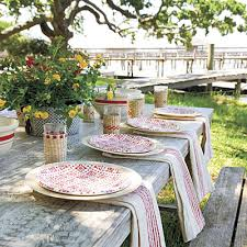Crawfish Boil Table Decorations by Marie Flanigan Interiors