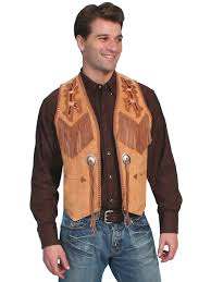 mens western vest leather western vests fringe vests