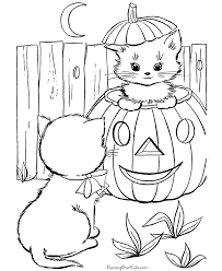 Halloween Printable Color Pages 19 Cats Coloring