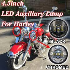4 5 auxiliary daymaker black spot passing hid led fog lights bulb