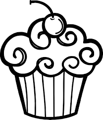 Cupcake clipart black and white free ClipartFest