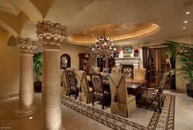 Elegant Mediterranean Dining Room 10