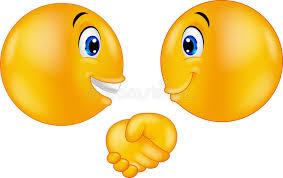 Download Cartoon Emoticons Shaking Hands Stock Vector