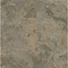Armstrong Groutable Vinyl Tile by Shop Armstrong Terraza 1 Piece 12 In X 12 In Gray Brown Peel And