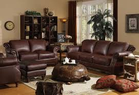 Living Room Ideas Brown Leather Sofa by Glamorous Burgundy Leather Sofa Living Room Furniture 44 About