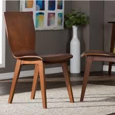 baxton studio elsa medium brown wood dining chairs set of 2 2pc