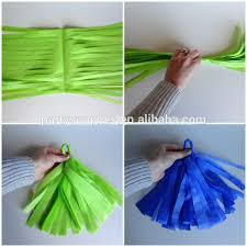 Birthday Decorations DIY Party Favor Tissue Paper Tassel Garlands