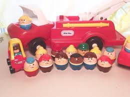 VINTAGE LITTLE TIKES Toddle Tots Fire Truck Firemen People - $27.00 ...