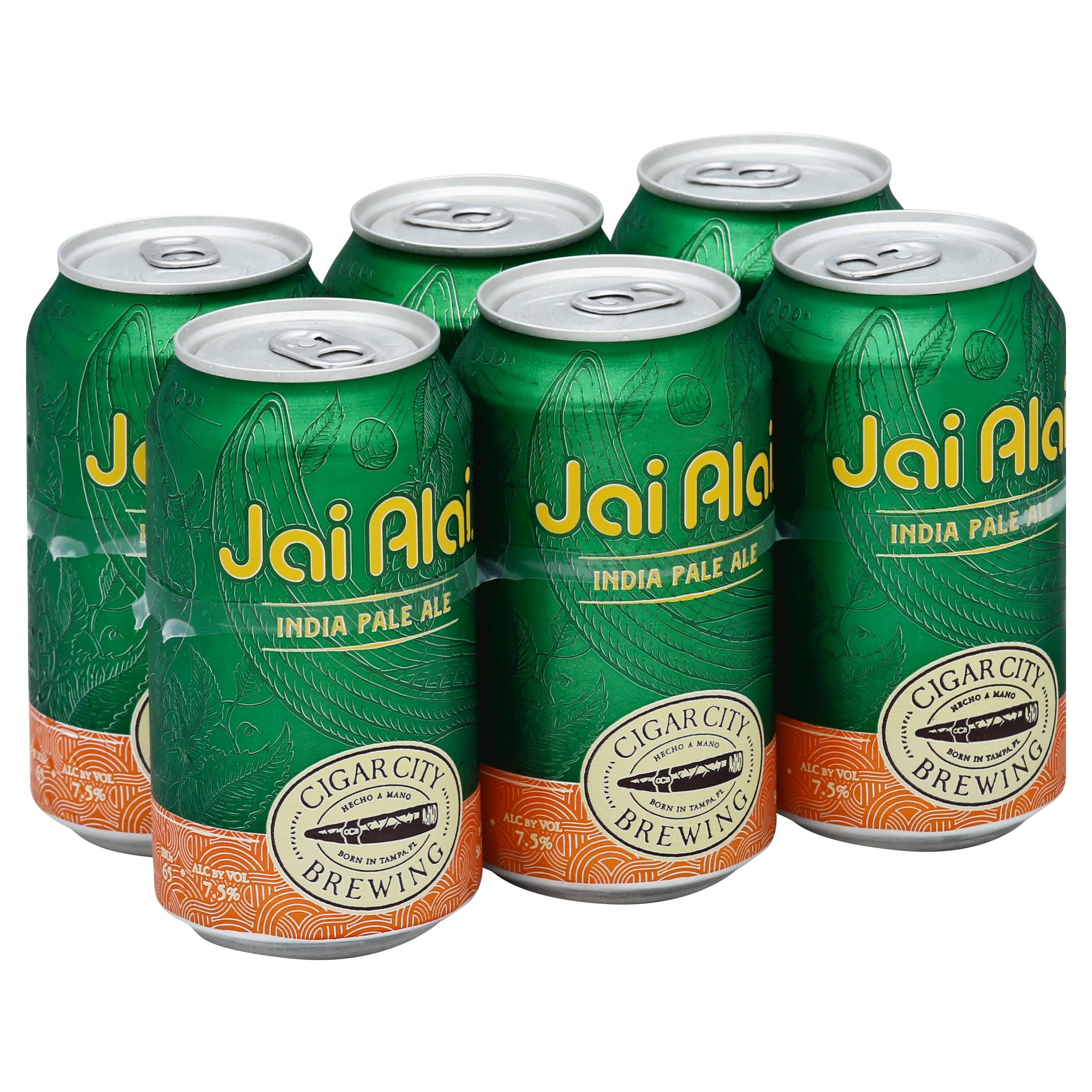Cigar City Jai Alai IPA - 6 pack, 12 fl oz cans