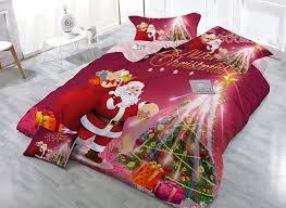 81 Santa Claus Christmas Tree Print 4 Piece Bedding Sets Duvet Covers